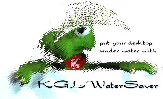 KGLWaterSaver - put your desktop under water